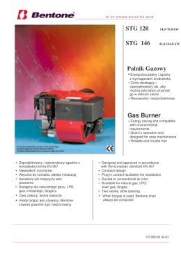 STG 120 14,5-70,0 kW STG 146 41,0-144,0 kW Palnik