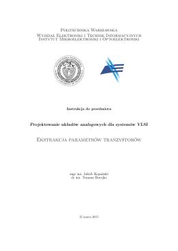 Instrukcja do ćw. 1 - Politechnika Warszawska