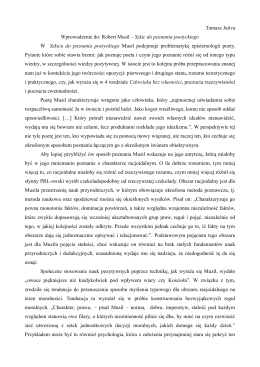 Tomasz Jativa Wprowadzenie do: Robert Musil – Szkic do poznania