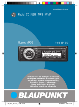 Radio CD USB MP3 WMA Queens MP56