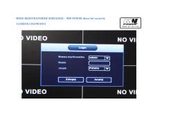 menu NVR seria basic