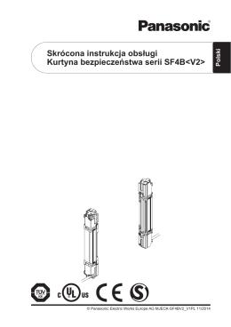 Skrócona instrukcja obsługi Kurtyna bezpieczeństwa serii SF4B
