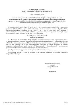 Uchwała nr XIII/128/15 z dnia 21.09.2015 r.