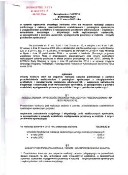 48-300 Nysa Zarządzenie nr 141/2015 Burmistrza Nysy