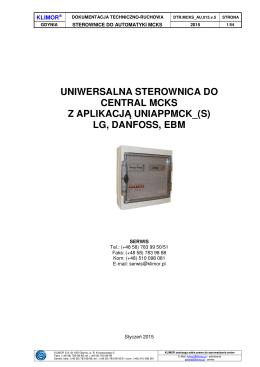 uniwersalna sterownica do central mcks z aplikacj