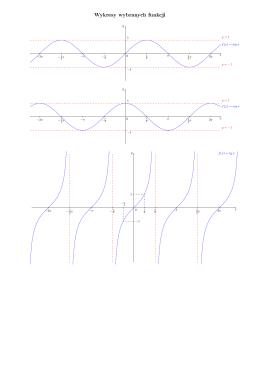 Wykresy wybranych funkcji