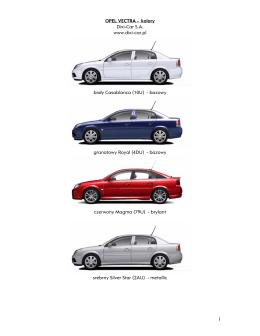 1 OPEL VECTRA - kolory Dixi-Car S.A. www.dixi