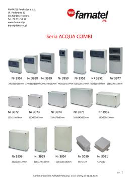 Cennik produktów Famatel Ważny od 17.10.2014r do 31.12.2015r