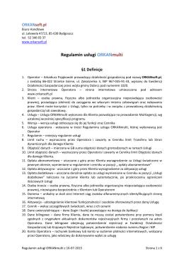 Regulaminem - ORKANsoft.pl