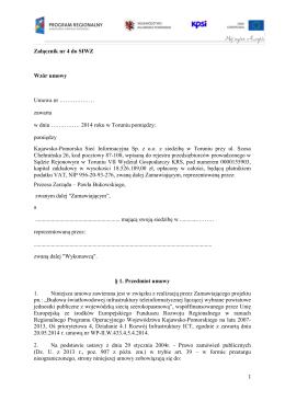 Załącznik nr 8 do SIWZ - Kujawsko