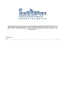 Umowa Szczegółowa do OWU