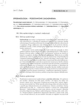 Zejda JE.: Epidemiologia – podstawowe zagadnienia.