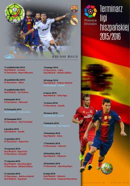 Terminarz ligi hiszpańskiej 2015/2016