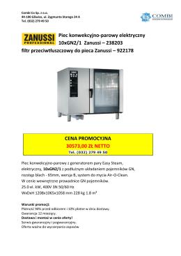 Piec konwekcyjno-parowy elektryczny 10xGN2/1 Zanussi – 238203