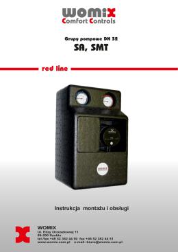 Instrukcja obsługi i montażu grup pompowych SA, SMT DN 32