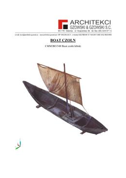 boat czoln - Narodowe Muzeum Morskie w Gdańsku