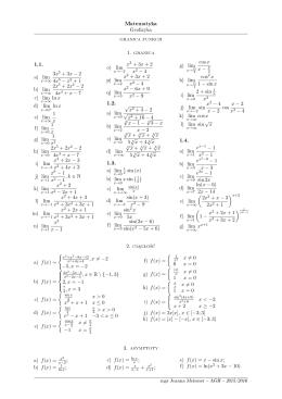 Granice funkcji - WMS AGH