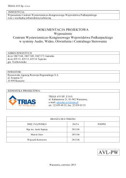 Opis przedmiotu zamówienia - Rzeszowska Agencja Rozwoju
