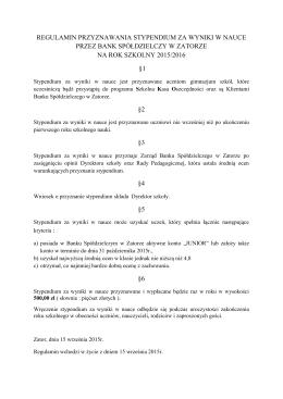 Regulamin - Bank Spółdzielczy w Zatorze O