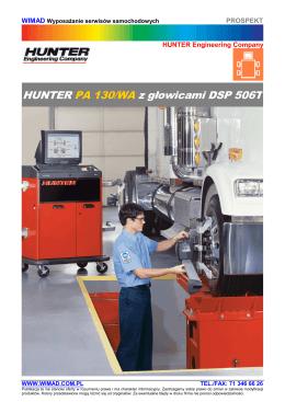 HUNTER - urządzenia do geometrii kół (przyrządy do geometrii kół)