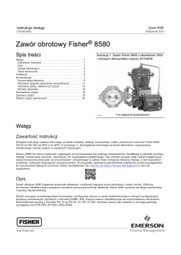 Zawór obrotowy Fisher 8580 - Welcome to Emerson Process