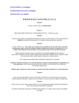 Propozicije i pravila možete pročitati ovdje.