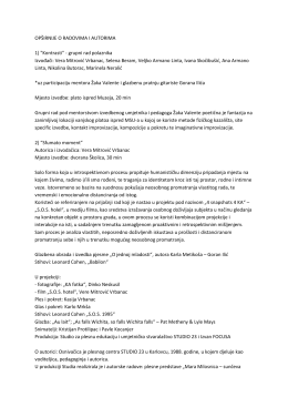 Opširnije o radovima i autorima - MDC-a