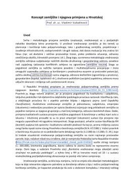 Koncept zemljište i njegova primjena u Hrvatskoj