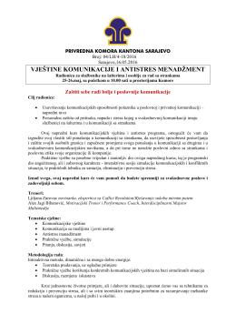 Seminar - Privredna komora Kantona Sarajevo