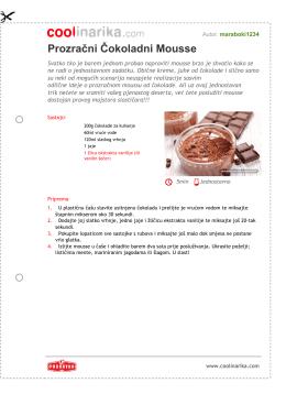 Prozraèni Èokoladni Mousse