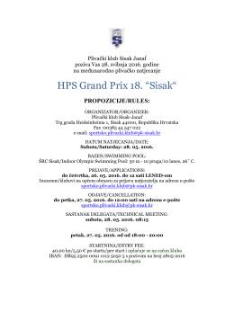 Propozicije HPS GP 18.