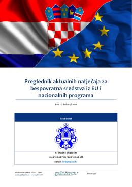 Preglednik aktualnih natječaja za bespovratna sredstva iz EU i