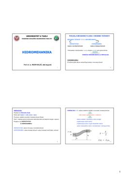 hidromehanika - Dr.sc. NEDIM SULJIĆ