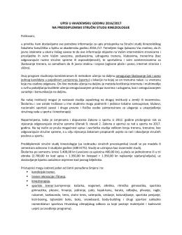 Stručni studij KIF Split – Obavijest - Sport-kzz