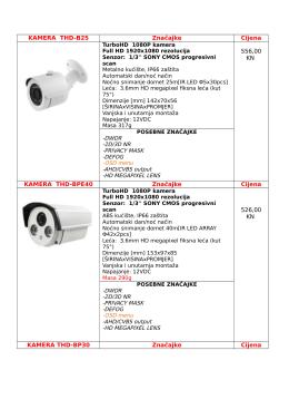 KAMERA THD-B25 Značajke Cijena 556,00 KN KAMERA THD
