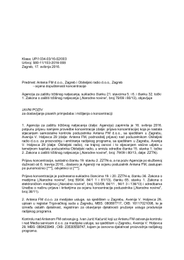 Antena FM d.o.o., Zagreb i Obiteljski radio d.o.o., Zagreb