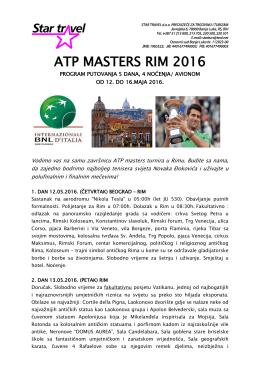 ATP MASTERS RIM 2016
