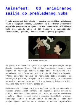 Animafest: Od animiranog sušija do prehlađenog vuka