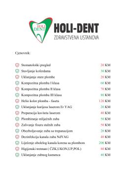 Cjenovnik - Holi-Dent