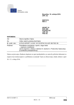 8367/2/16 REV 2 MHA/md 1 DG E - 1C Nakon savjetovanja s