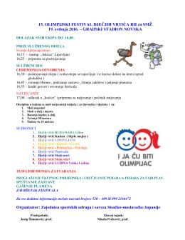 15 Olimpijski festival dječjih vrtića RH za SMŽ – Novska 19.05.2016.