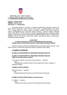 javni poziv - Ured državne uprave u Koprivničko