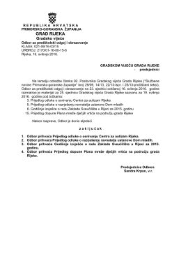 Odbor za predškolski odgoj i obrazovanje