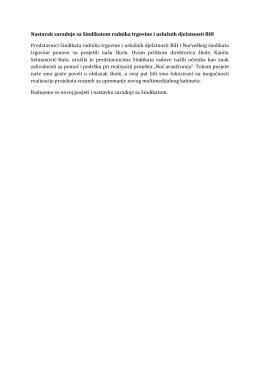 Nastavak saradnje sa Sindikatom radnika trgovine i uslužnih