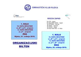 organizacijskom biltenu - Gimnastički klub Rijeka