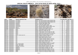 special south america - 2016 catalogue of seed - Cactus