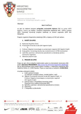natječaj za upis na nastavni program prilagodbe nacionalnih