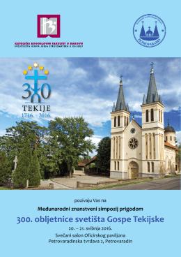 Gospa Tekijska - pozivnica - Katolički bogoslovni fakultet u Đakovu