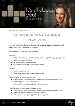 dan otvorenih vrata u radisson blu resortu split