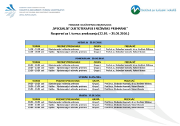 Raspored predavanja – SDiRP Mostar